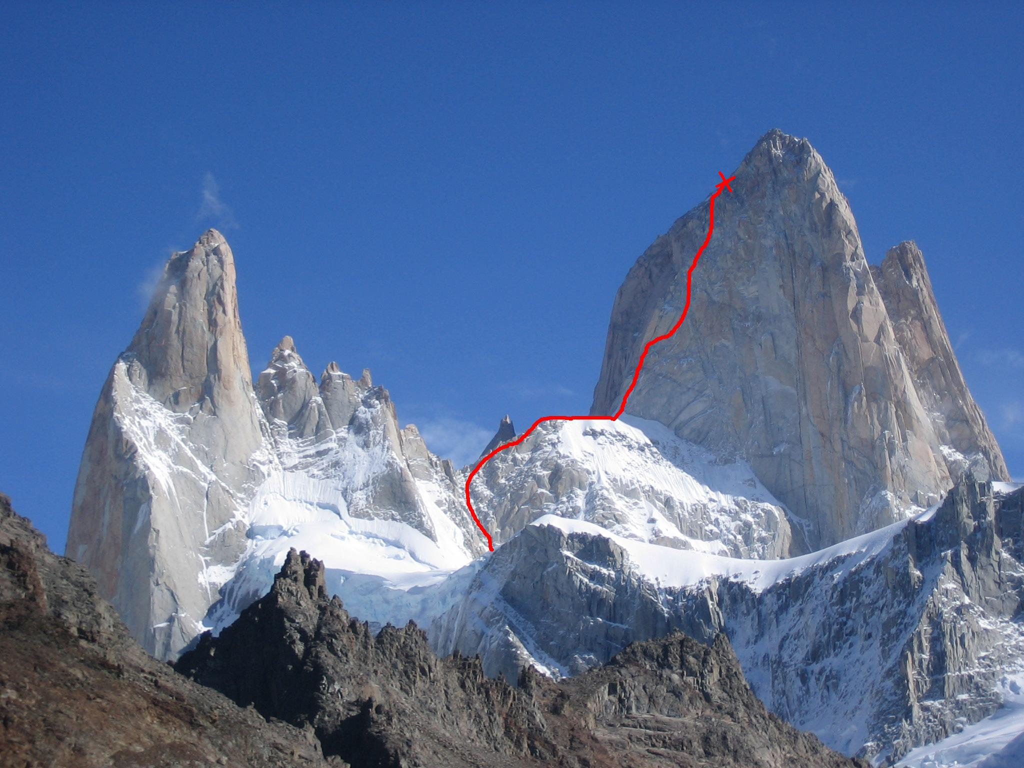 Franco-Argentino on Fitz Roy, Patagonia