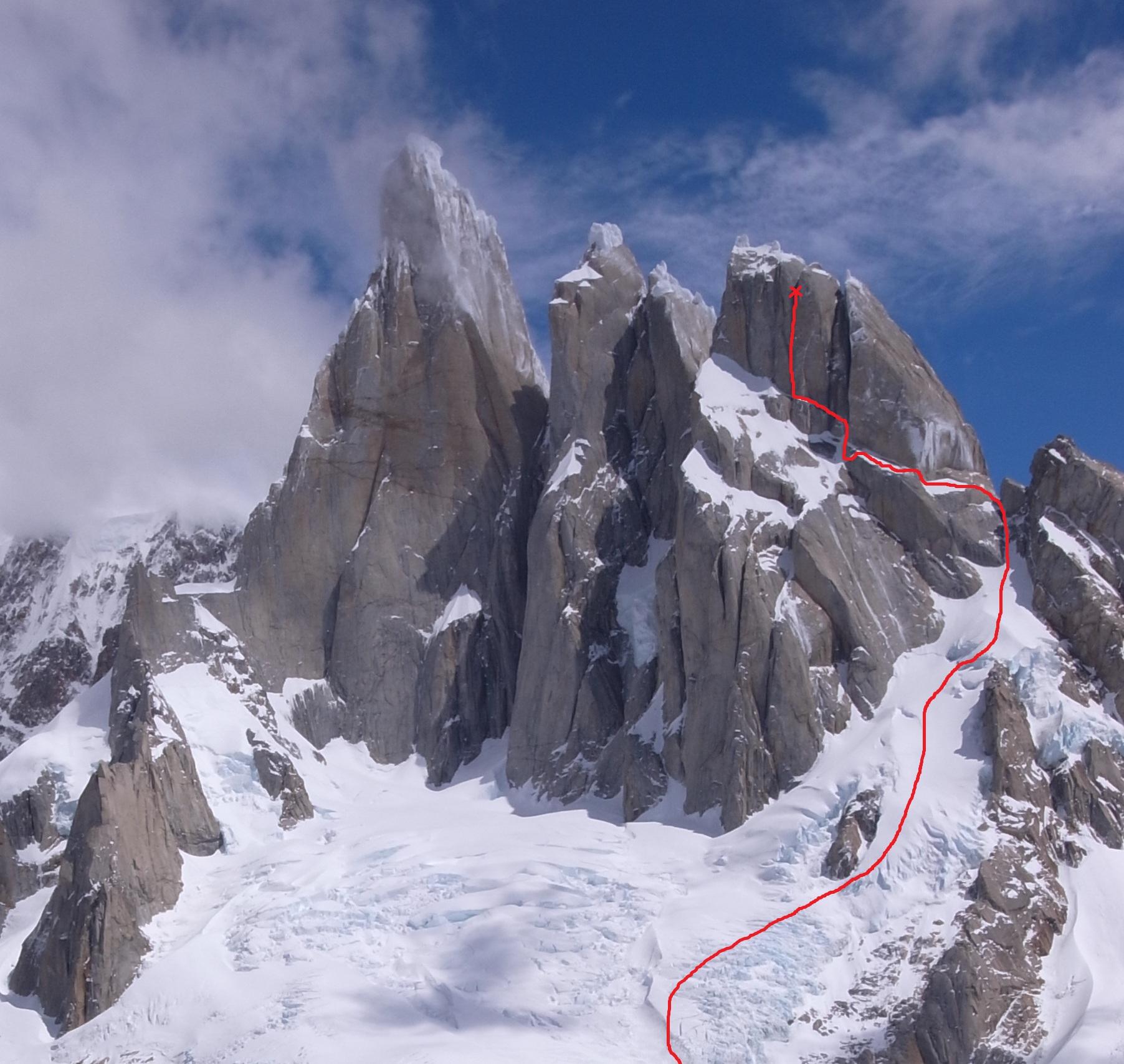 Exocet on Cerro Standhart, Patagonia